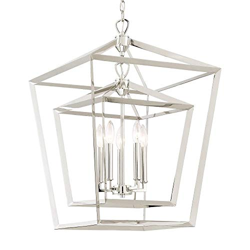 Waterbury Design Works 10309 Narbonne 5-Light Foyer or Island Chandelier, Polished Nickel