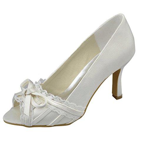 Festa Sposa Nodo Donne Da Formale Da Sandali Moda Sposa Prom Delle Merletto Del Del Avorio Sera Raso Kevin Mz1218 Xv0qwUB