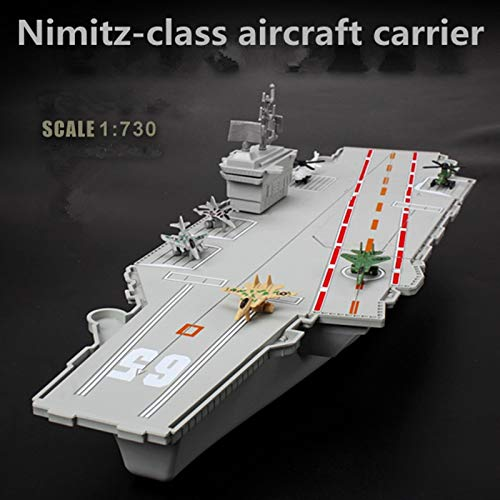 Greensun Children's Static Model Toys,Nimitz-Class Aircraft Carrier,Plastic Model,Military Model Toys,Educational Toys, - Nimitz Class Aircraft Carrier