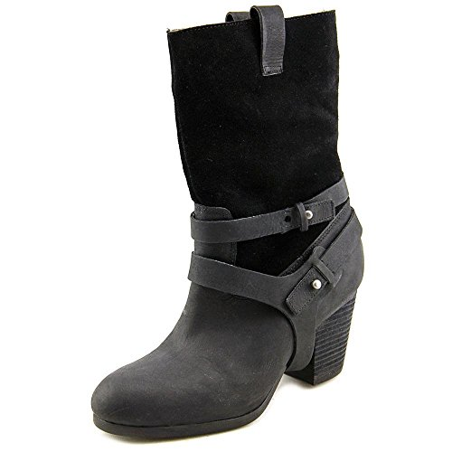 Boots Lauren Leather Mattie Black 9M Women's Ralph Denim Supply amp; fw0dq1