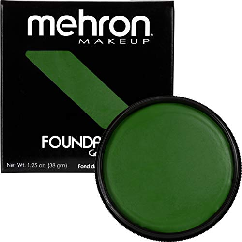 Mehron Makeup Foundation Greasepaint (1.25 oz) (GREEN)