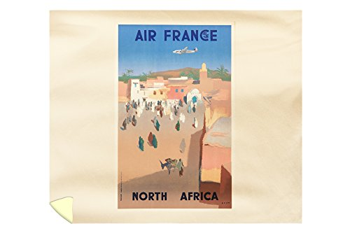 Air France - North Africa Vintage Poster (artist: Even) France c. 1950 (88x104 King Microfiber Duvet Cover) by Lantern Press