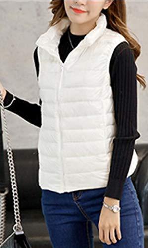 Puffer Down White Jacket Packable Jacket EKU Sleeveless Vest Lightweight Women's qwTnYpX