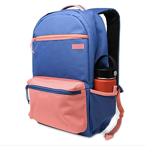 - Amber & Ash Classic Campus Backpack - Lightweight, Water Resistant Laptop Bookbag - Fits up to 15-Inch Laptop or Notebook [Lapis Blue]