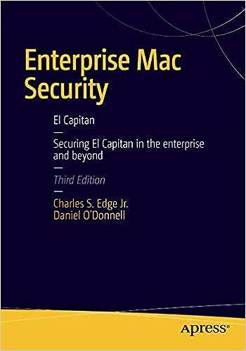 Enterprise Mac Security: Mac OS X: Mac OS X: CHARLES EDGE, Daniel O