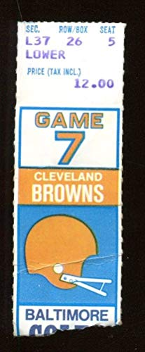 1980 Baltimore Colts v Cleveland Browns Ticket 11/9 Memorial Stadium 43552