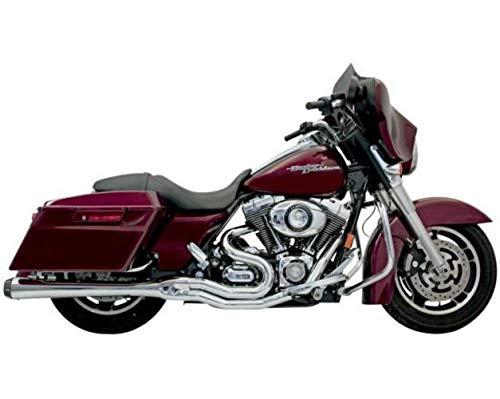 Bassani Y-pipe - Bassani Xhaust 06-16 Harley FLHX2 B4 2-Into-1 Exhaust with Megaphone Muffler (Chrome)