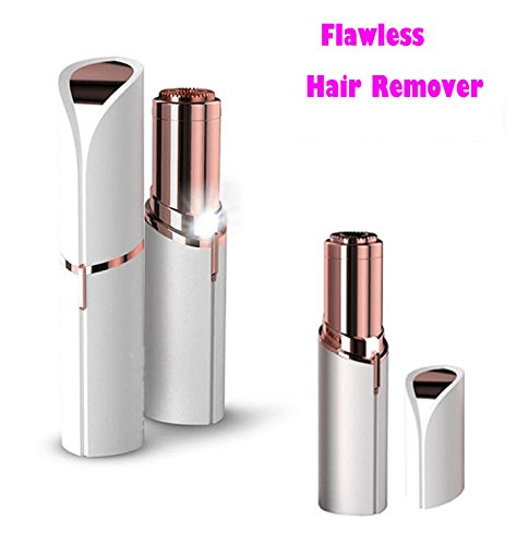 Flawless Women's Facial Hair Remover - Best Facial Hair Removal Device For women Electric Hair Trimmer & Shaver For Chin Upper Lip Cheeks Armpit As Seen On TV (Gold)