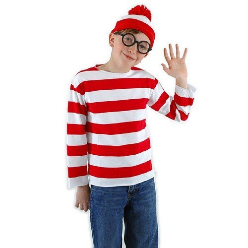 [Wheres Waldo Child Halloween Costume TEJ] (Wheres Waldo Halloween)