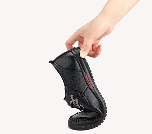 Chaussures en Cuir pour Hommes Loisirs Business Respirant Noir Brun Bleu Printemps Chaussures Garçons Sandales Black t1tzAKz