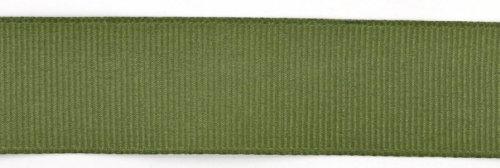 [Kel-Toy Polyester Grosgrain Ribbon, 7/8-Inch by 25-Yard, Olive] (Olive Green Grosgrain Ribbon)