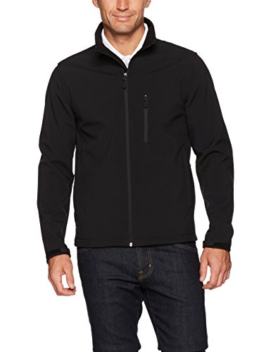 - Amazon Essentials Men's Water-Resistant Softshell Jacket, Black, Small