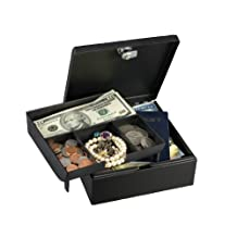 Master Lock 7143D Cash Box with 4 Compartment Tray
