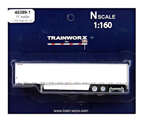 N Scale Trainworx 53' Trailer, Great Dane Dry Van