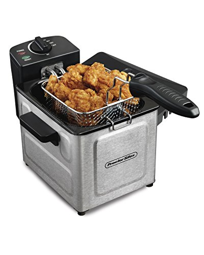 Proctor Silex Professional-Style Electric Deep Fryer 1.5-Liter, Stainless Steel (35041)