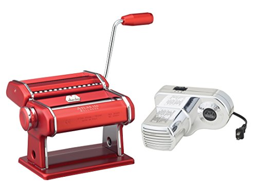 Atlas Electric Pasta Machine (Red)