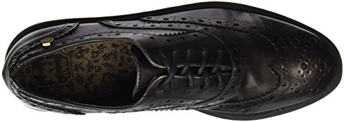 Zapato Oxford Scarpe Metalizado Stringate Argento Plomo Donna Sra Plomo XTI vw1gdv