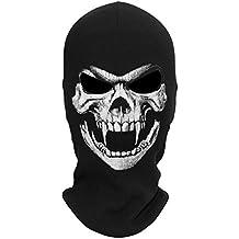 JIUSY Rib Fabrics Skeleton Skull Balaclavas Ghost Death Masks Headwear Cosplay Costume Halloween Ski Face Mask