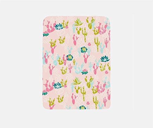 Cactus Blanket Fleece, Travel Blanket Airplane, Pink Blanket Throw, Summer Blanket, Vacation Blanket,