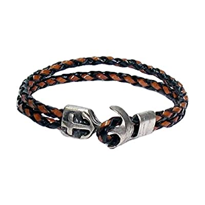AUTHENTIC HANDMADE Leather Bracelet, Men Women Wristbands Braided Bangle Craft Multi [SKU003036]