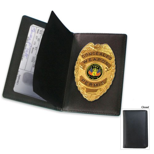 BudK Concealed Weapon Badge and Case, Outdoor Stuffs