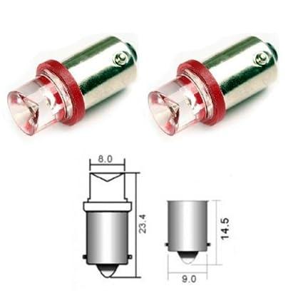 B9R - Rojo SMD LED lámpara bombilla de repuesto luces de posición T4W BA9S 12V Numero