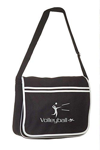 Retro Messenger Bag BG71 schwarz Volleyball