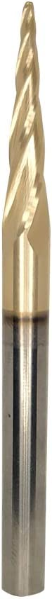 4 Flutes Ball Nose CNC Router Bits Up Cut DashHound Solid Carbide Spiral Bit 0.10 Deg ZRN Coated with 1//4 Inch Shank,1//4 x 1 x 1//4 x 3
