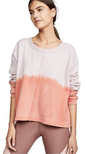 Spiritual Gangster Women's Matya Swing Sweatshirt, Rose Quartz, Pink, Print, X-Small -
