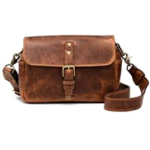 ONA The Bowery Leather Camera Bag and Insert - Antique Cognac