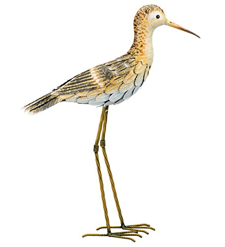 Regal Art & Gift Sandpiper 16.5 inches x 5 inches x 21.25 inches Metal Bird - Outdoor Statues (Art Wall Bird Shore)