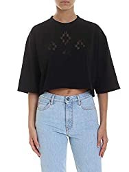 Marcelo Burlon Women S Cwaa048s190011711010 Black Cotton T Shirt