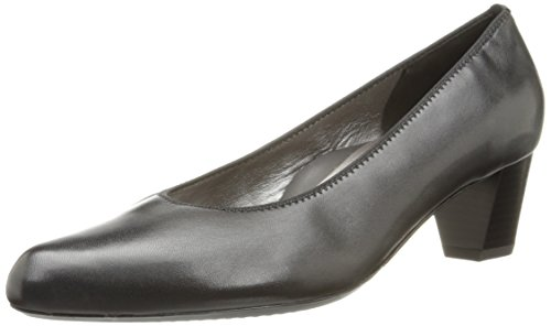 ara Women's Kelly Dress Pump, Black Leather, 5.5 M US ()