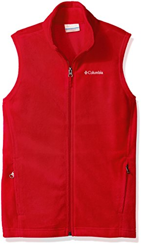 Columbia Big Boys' Steens Mt Fleece Vest, Mountain Red, Medium