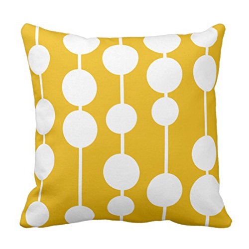 Emvency Throw Pillow Cover Kids Mid Century Modern Yellow Room Decorative Pillow Case Home Decor Square Pillowcase 41kVyeo7g7L