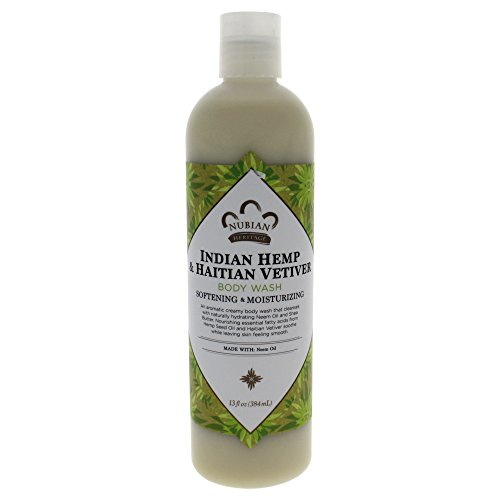 Nubian Heritage Body Wash, Indian Hemp, 13 Fluid Ounce