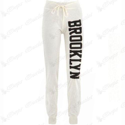 Oops Outlet - Pantalon Survêtement Femme Bas Jogging Long Gym Brooklyn Neuf - S/M FR 36-38, Bordeaux