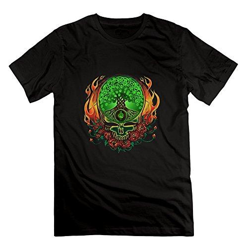 [LLpp Grateful Of Dead Celtic Knot Tree Of Life Men's T Shirt,Black] (Grateful Dead Celtic Knot)