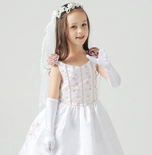Weimay Length Guantes para niñas Princess Princess (4-7 años ...
