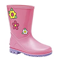 Stormwell Girls Puddle Floral Rain Boots