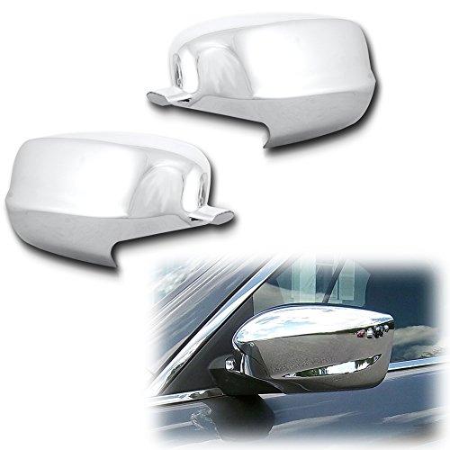 AutoModZone Chrome ABS Side View Mirror Full Mirror Cover 2-pc Set for 08-13 Honda (Honda Accord Chrome Mirror)