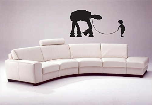 Little Boy With His At At Wall Decal At At Walker Star Wars Decal