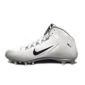 Nike Alpha Pro 2 3/4 TD Football Cleats (13.5, White/Black)