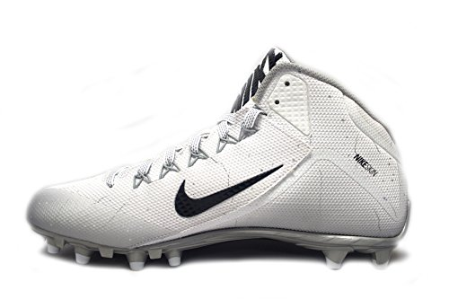Nike Alpha Pro 2 3/4 TD Football Cleats (12.5, White/Black)