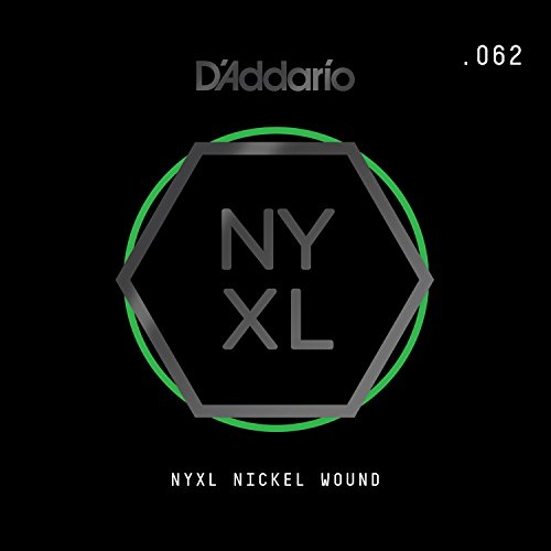 D'Addario NYXL Nickel Wound Electric Guitar Single String.062 - Daddario Single Guitar Strings