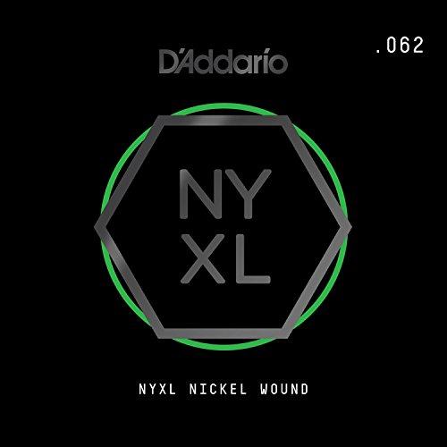 Daddario Single Guitar Strings - D'Addario NYXL Nickel Wound Electric Guitar Single String, .062