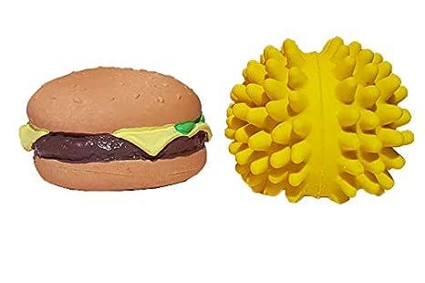 LATEXA Hamburguesa + Pelota púas Amarilla: Amazon.es: Productos ...