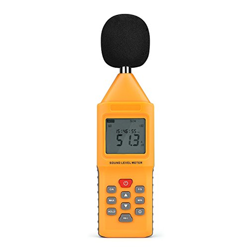 TNP Digital Decibel Sound Meter Level Tester Pressure Noise Measurement Tool Portable 30 dBA - 130 dBA with LCD Display Battery and Frequency Weighting for Musicians Sound Audio