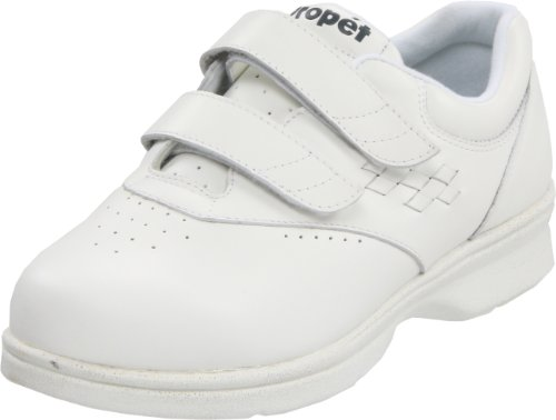 Propet Women's W3915 Vista W Walker Sneaker,White Smooth,11 W Vista (US Women's 11 D) B000BO8JIU Shoes 70597a