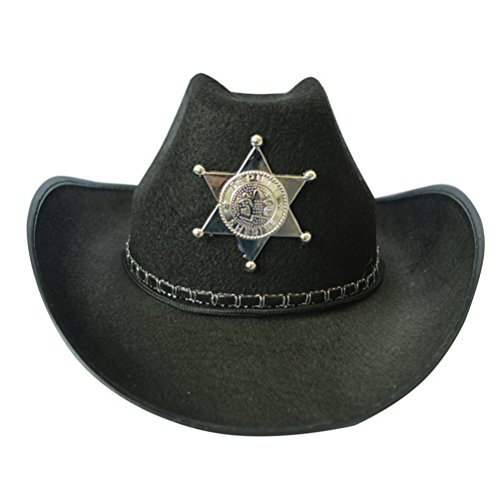 PIXNOR Cowboy Western Hat Fancy Dress Party Costume (Black) (Zombie Cowgirl Costumes)